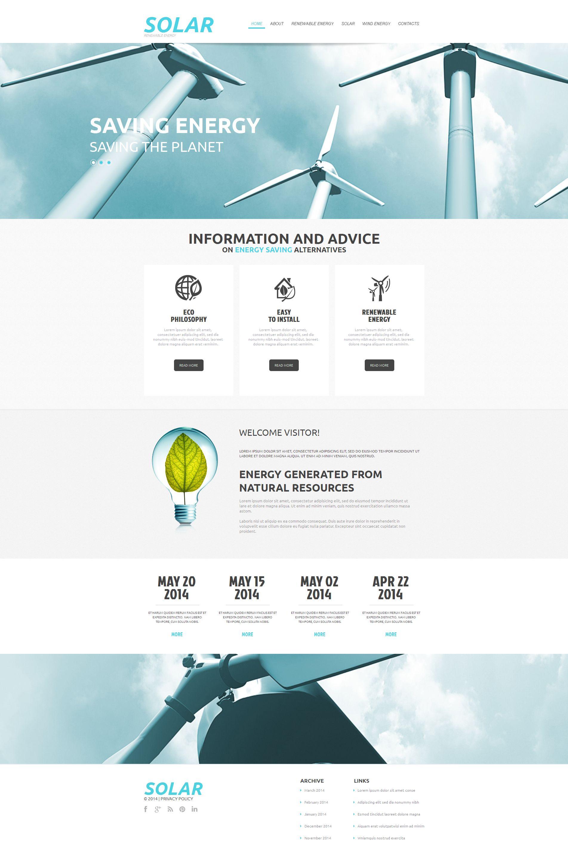 Solar Energy Moto CMS HTML Template #51162