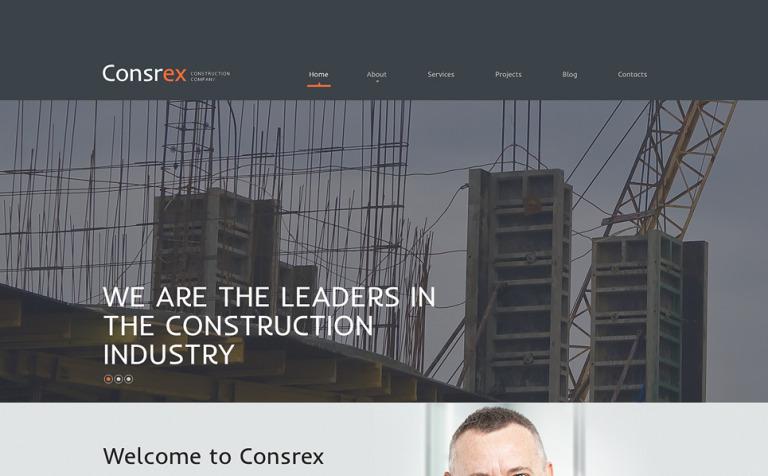 Tema de WordPress #51143 para Sitio de Empresas de construcción