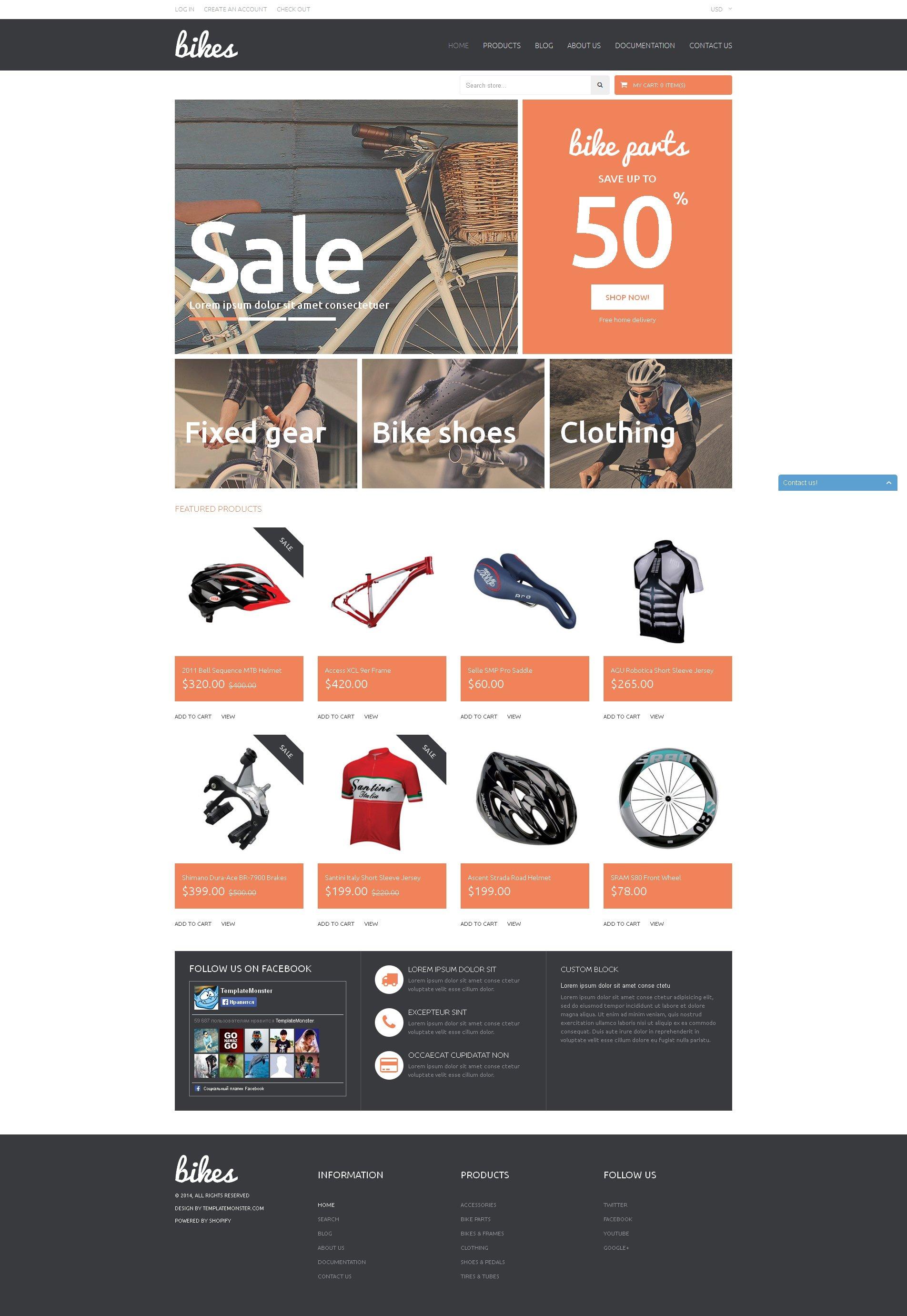"""Tema Shopify """"Tienda de Bicicletas y Accesorios para Bicis"""" #51147"""