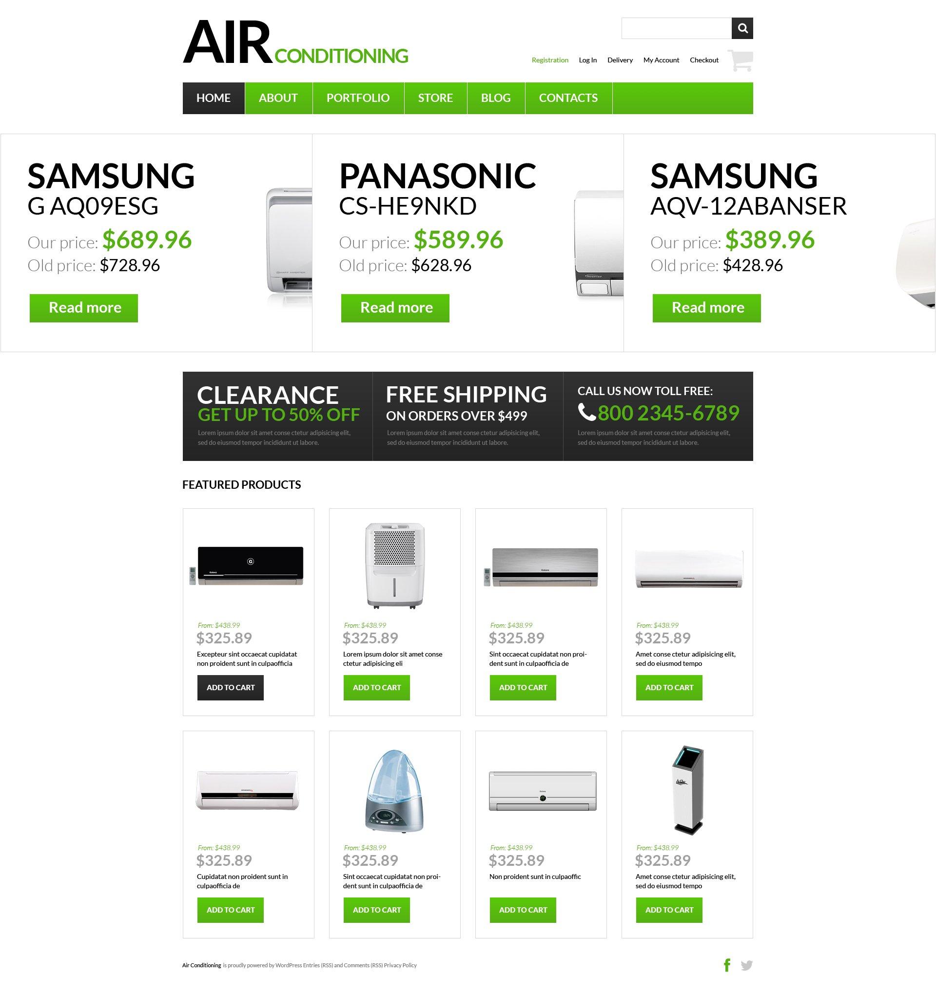 "Template WooCommerce Responsive #51130 ""Fresh Air Supplier"""