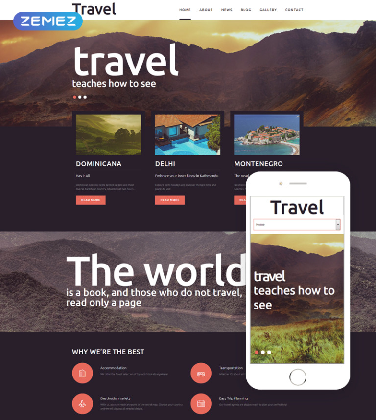 Travel - Fancy Tourism Blog Joomla Template