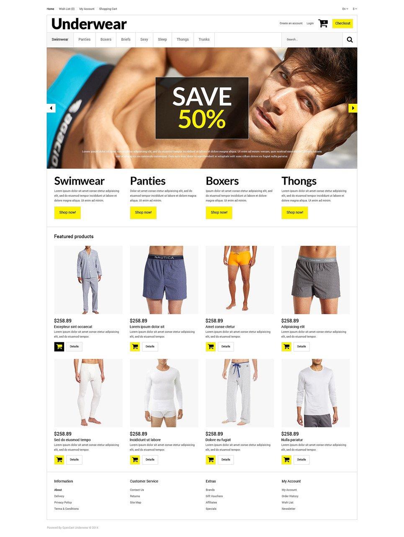 Trendy Underwear for Men OpenCart Template New Screenshots BIG
