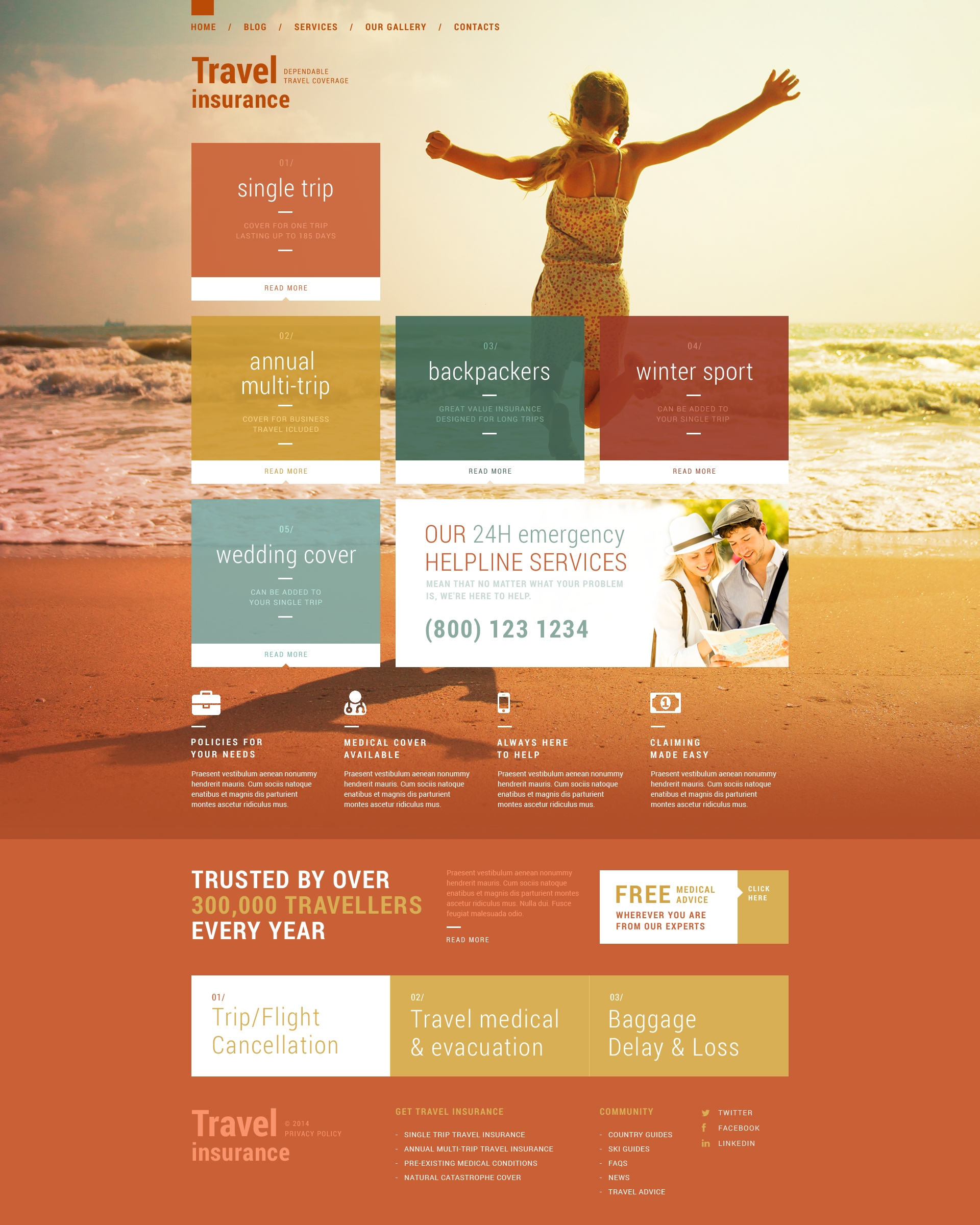 Vacation Security WordPress Theme - screenshot