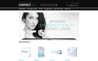 Vision Contact Lenses Magento Theme