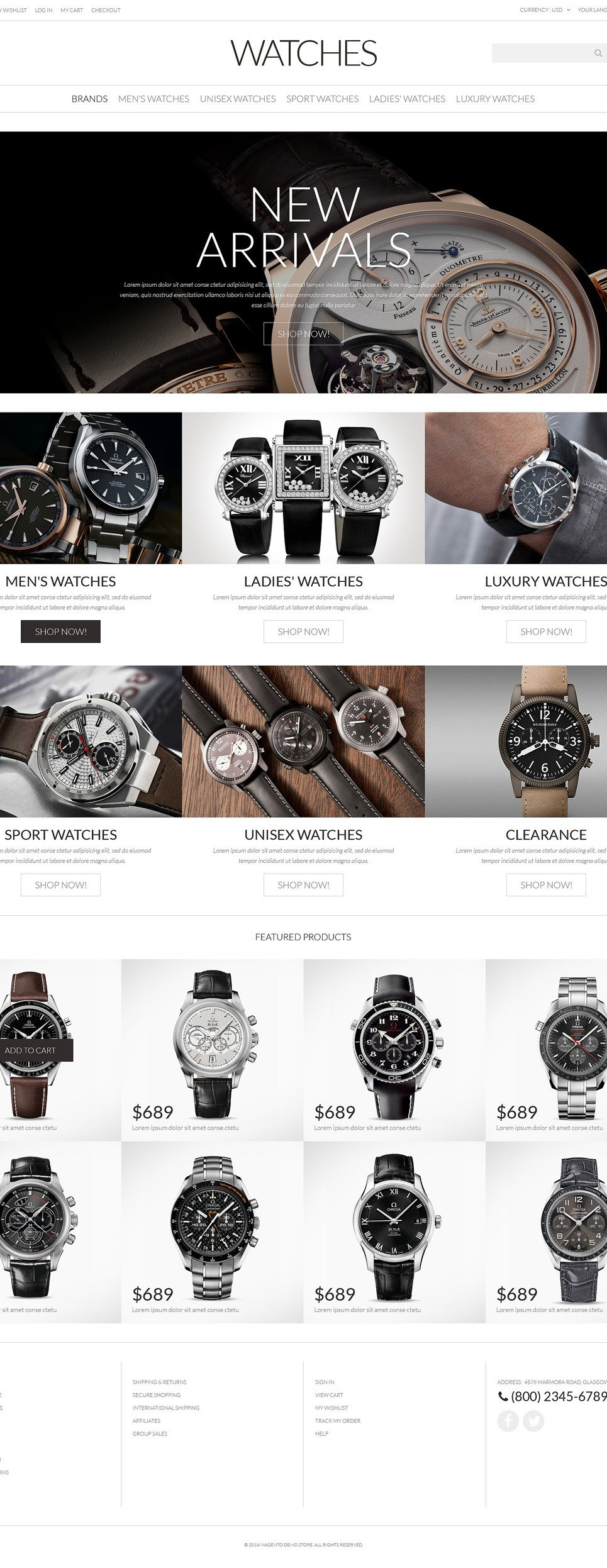 Watches PSD Template New Screenshots BIG