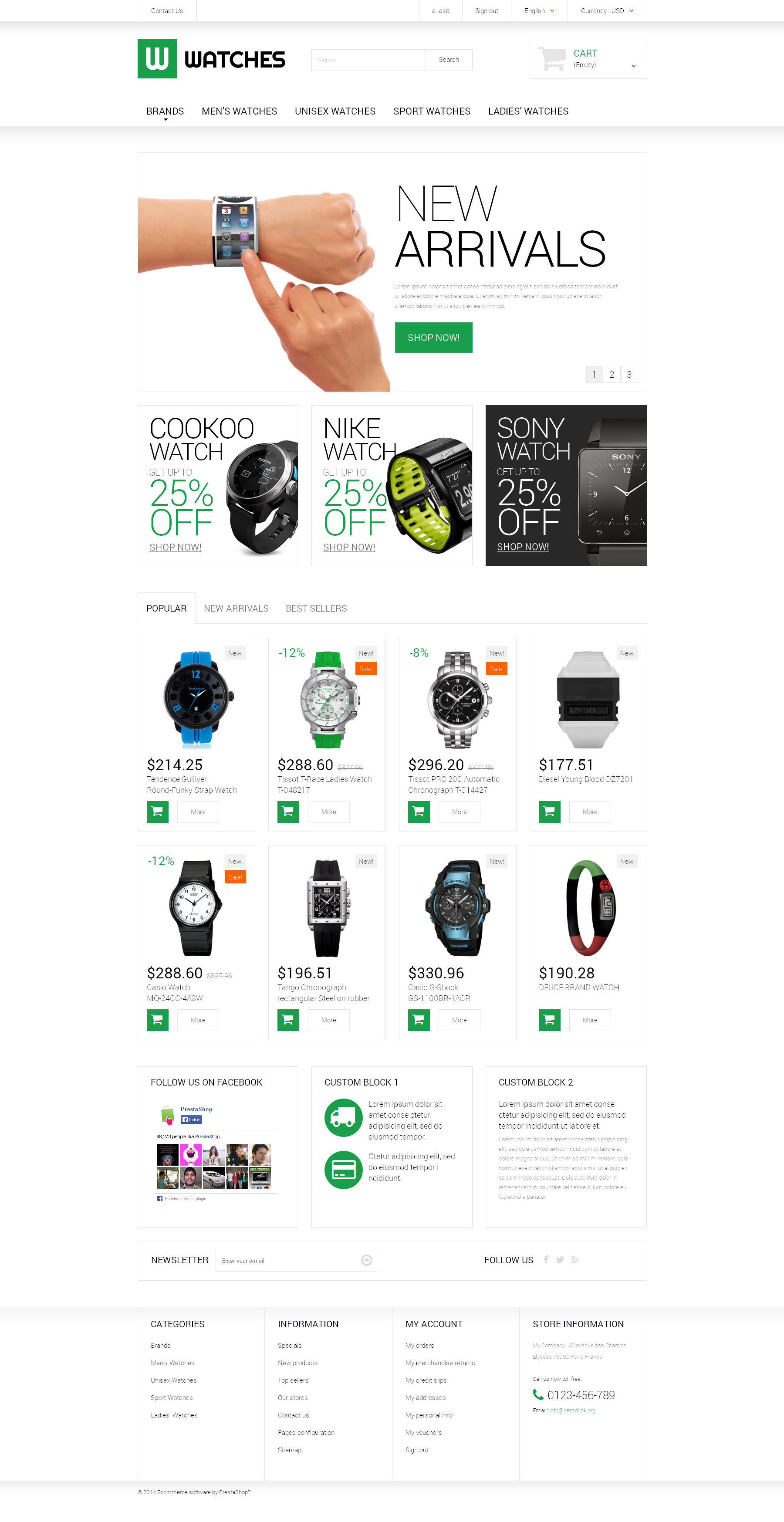 Watches Shop PrestaShop Theme
