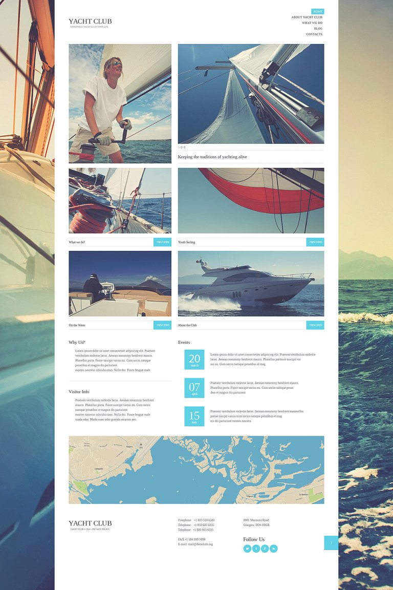 Yacht Club WordPress Theme New Screenshots BIG