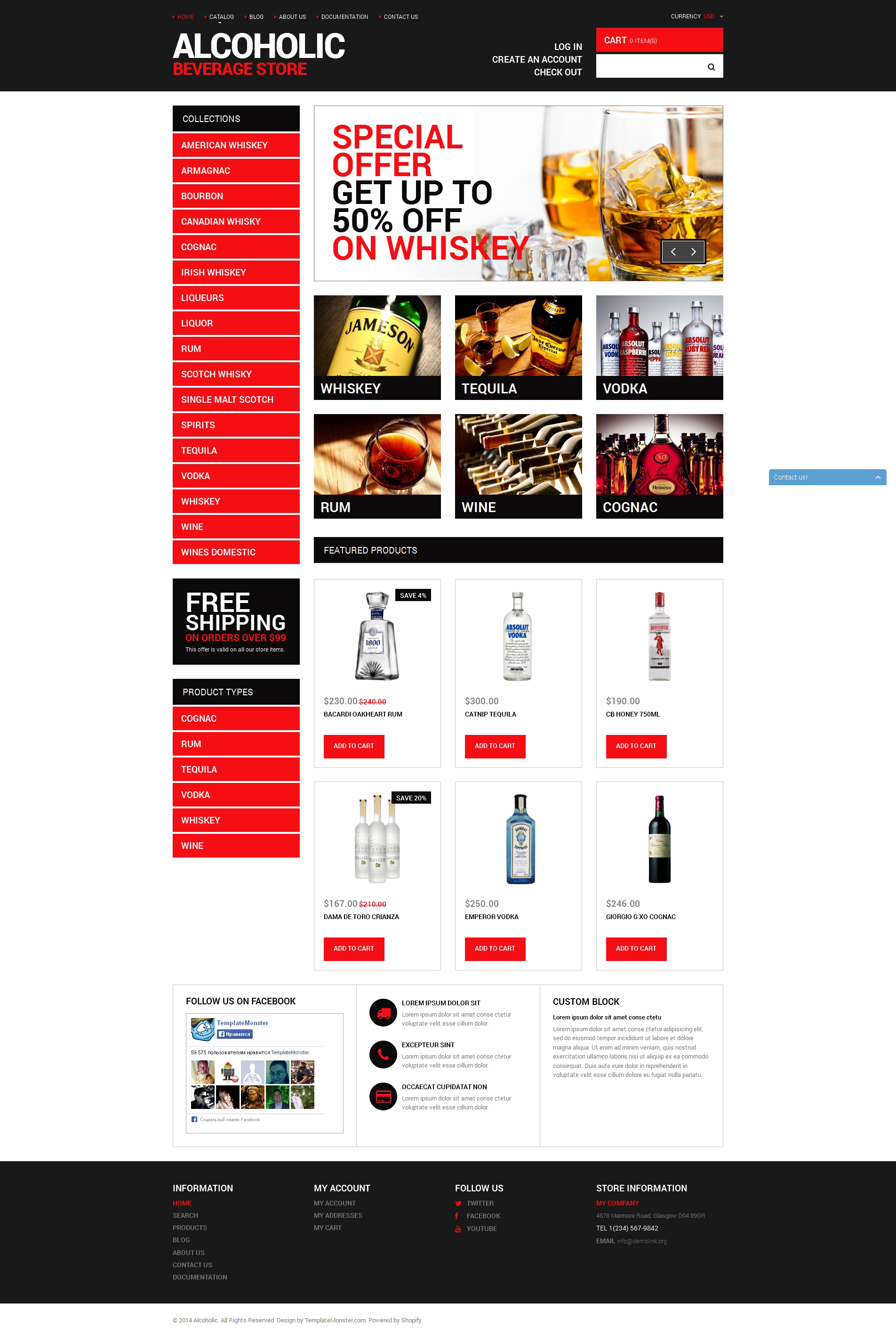 Your Beverage Store Shopify Theme - screenshot
