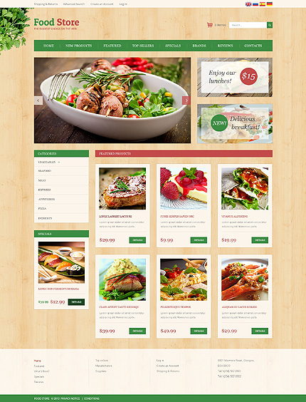 osCommerce Template 51200 Main Page Screenshot