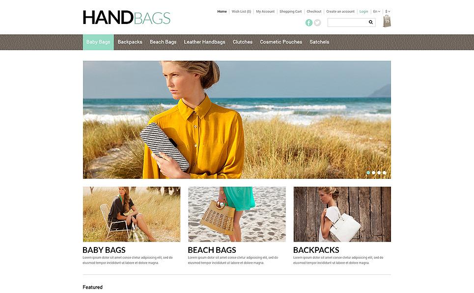 Plantilla OpenCart Responsive para Sitio de Bolsos New Screenshots BIG