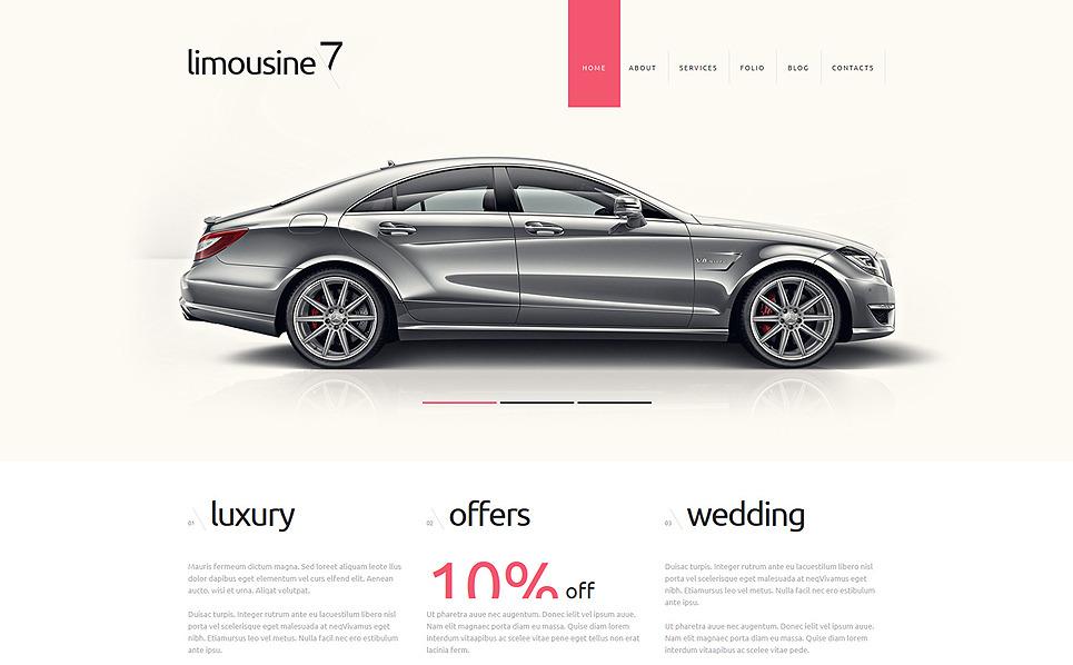 Responzivní Joomla šablona na téma Služby limuzíny New Screenshots BIG