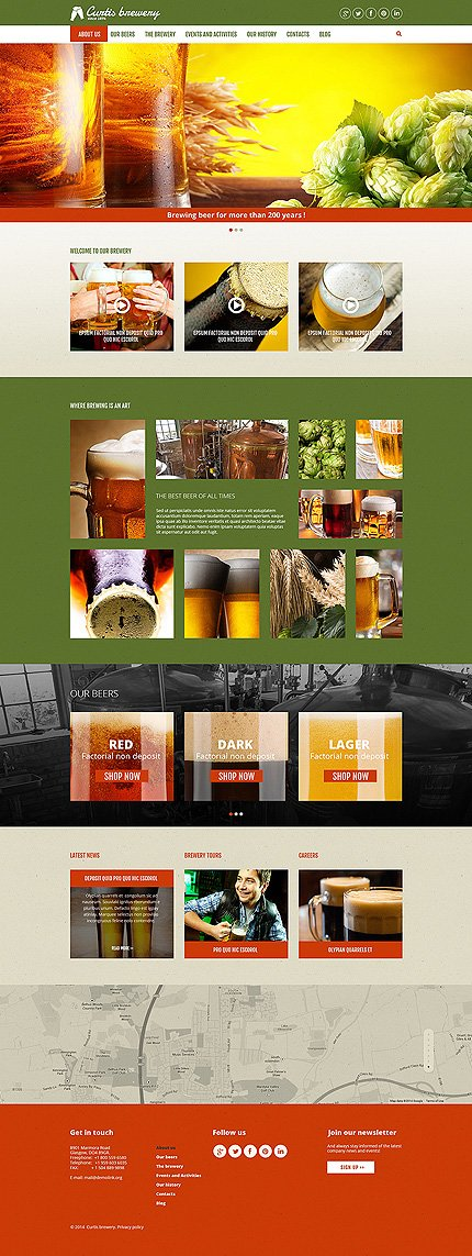 Joomla Theme/Template 51216 Main Page Screenshot