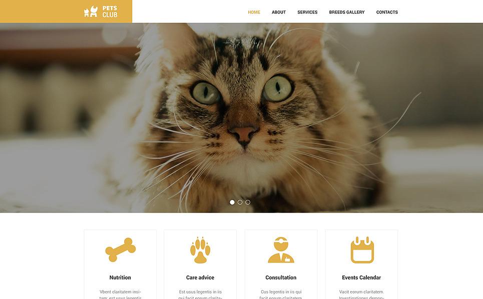 Responsive Hahvanlar ve Evcil Hayvanlar Web Sitesi Şablonu New Screenshots BIG
