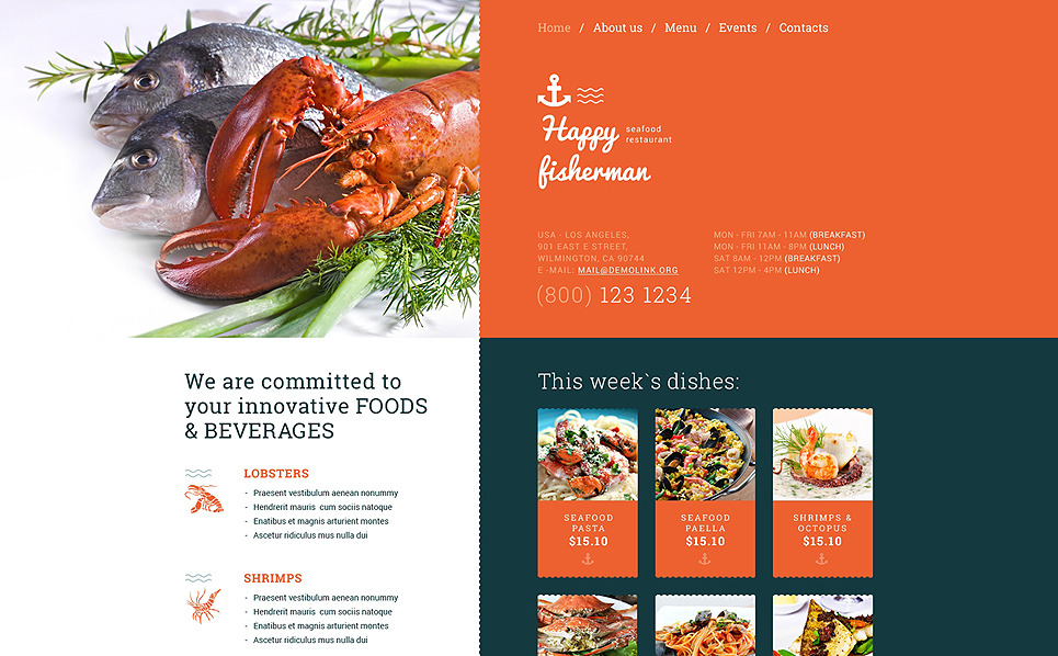 Responsive Website template over Visrestaurant New Screenshots BIG