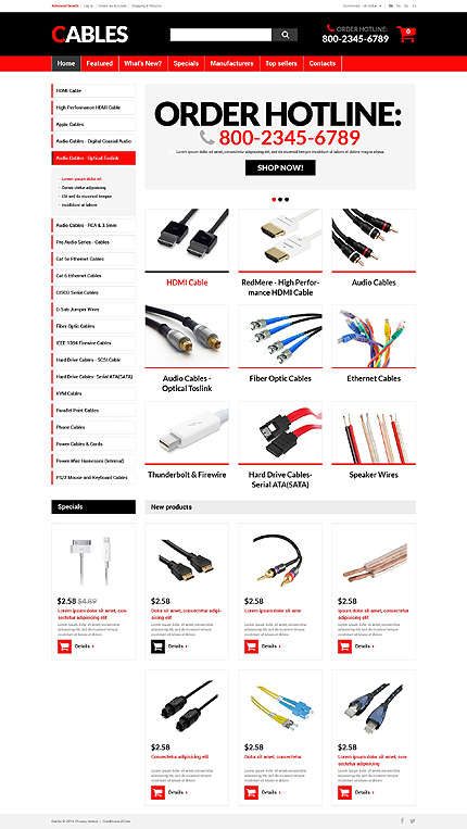 osCommerce Template 51231 Main Page Screenshot