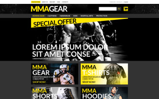 MMA Gear Store VirtueMart Template