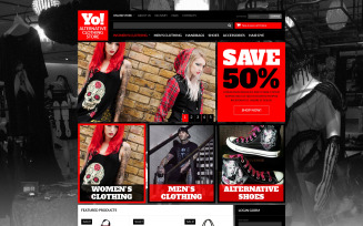 Alternative Clothing Store VirtueMart Template