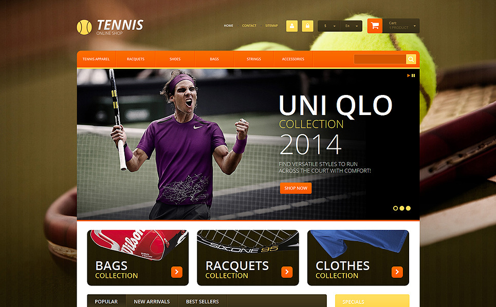 Responsive Tenis  Prestashop Teması New Screenshots BIG