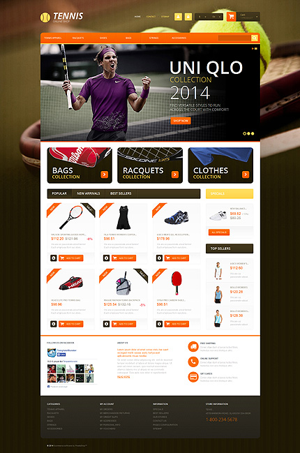 ADOBE Photoshop Template 51238 Home Page Screenshot