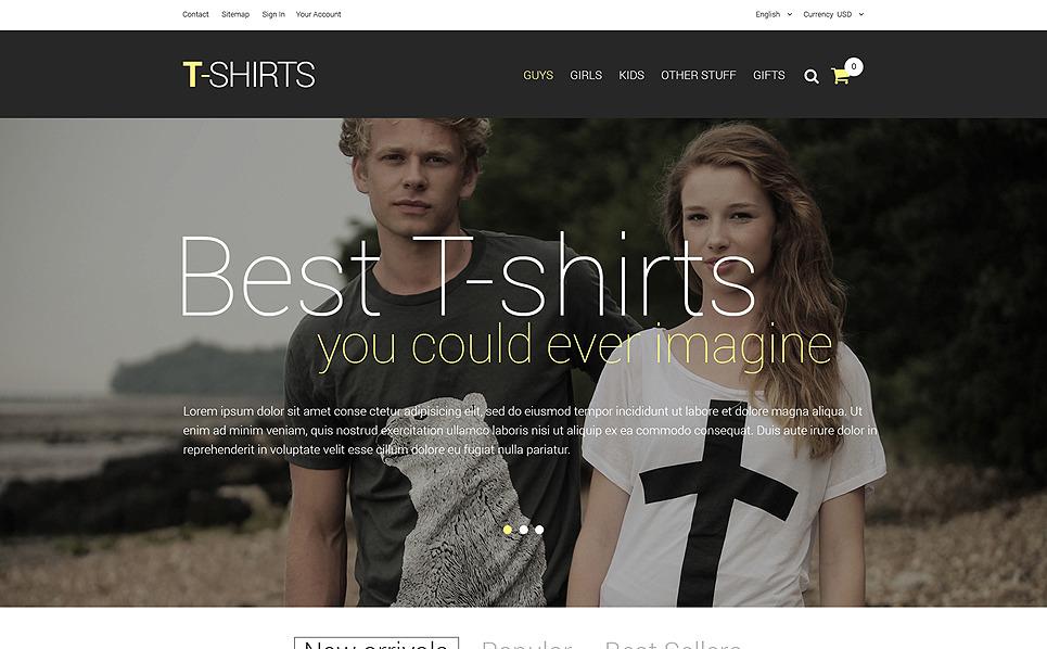 """""""T-Shirts"""" thème PrestaShop adaptatif New Screenshots BIG"""