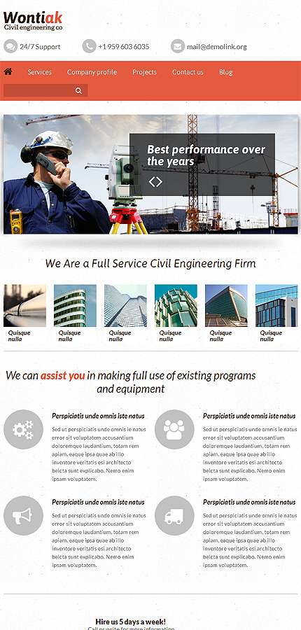 industrial html template at a price of 69