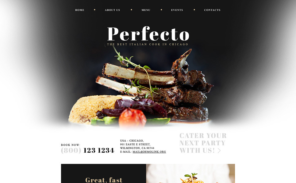 Responsive Website template over Italiaans Restaurant  New Screenshots BIG