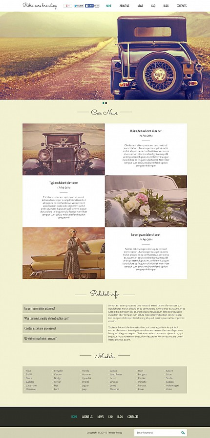 ADOBE Photoshop Template 51261 Home Page Screenshot