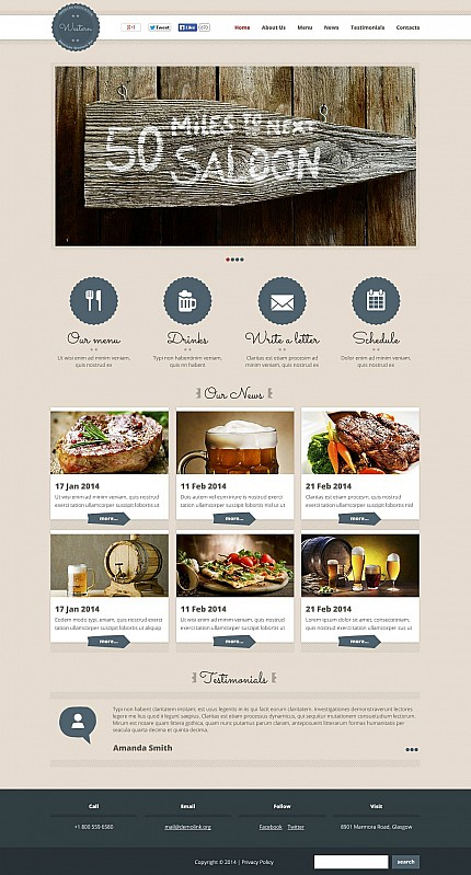 ADOBE Photoshop Template 51262 Home Page Screenshot