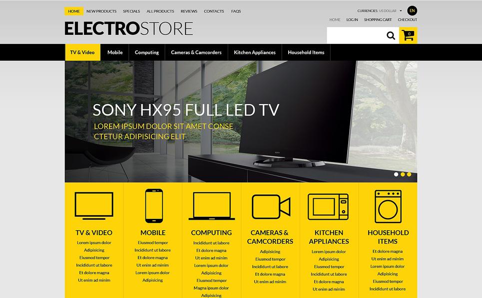 Szablon ZenCart #51271 na temat: sklep elektroniczny New Screenshots BIG