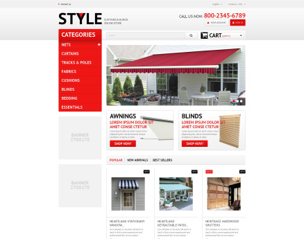 Interior Blinds and Curtains PrestaShop Theme