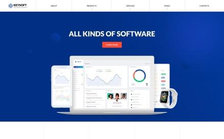 Keysoft - Software Company Creative Multipage HTML Website Template