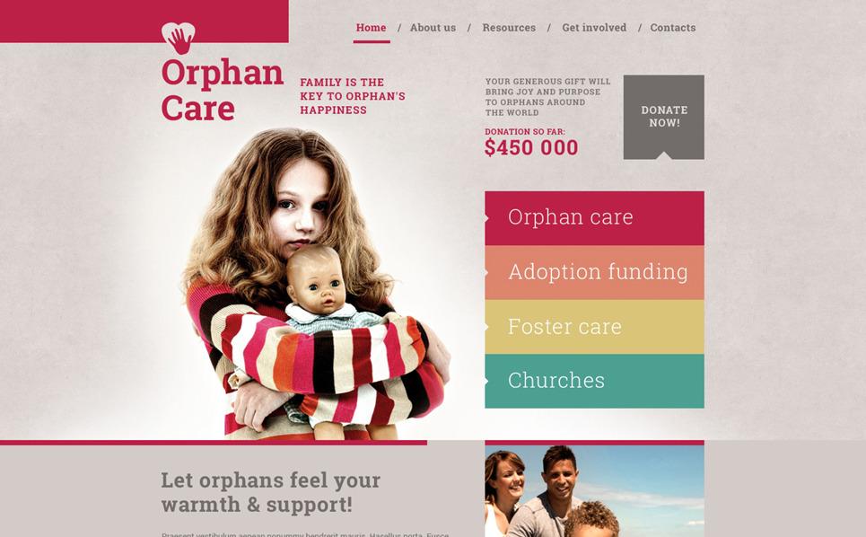 Адаптивний Шаблон сайту на тему агентство з усиновлення New Screenshots BIG