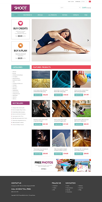ZenCart Template 51281 Main Page Screenshot