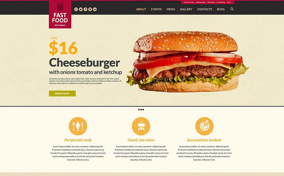 Template Siti Web Responsive #51283 per Un Sito di Ristorante Fast Food New Screenshots BIG