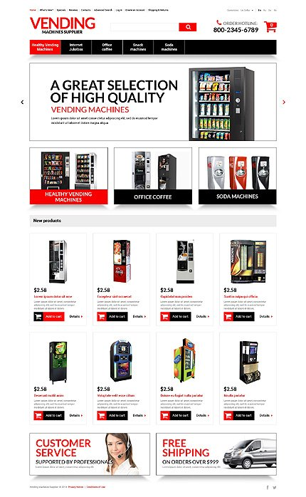 osCommerce Template 51284 Main Page Screenshot
