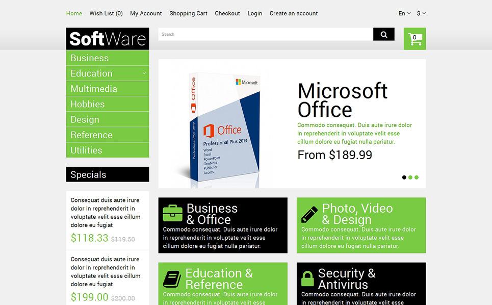 Bootstrap OpenCart Template over Softwarebedrijf  New Screenshots BIG