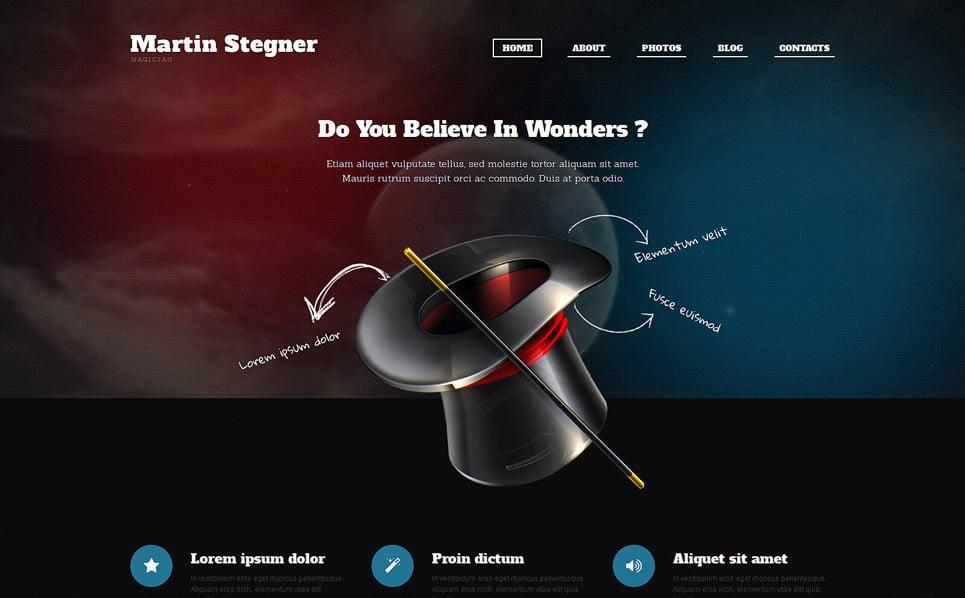 Responzivní WordPress motiv na téma Osobní stránky New Screenshots BIG