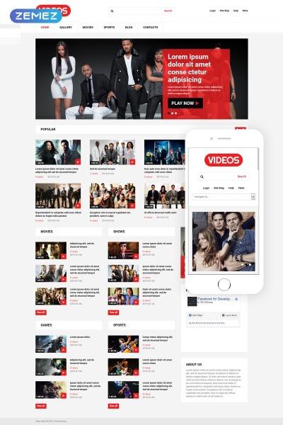 Video Gallery Responsive Joomla шаблон