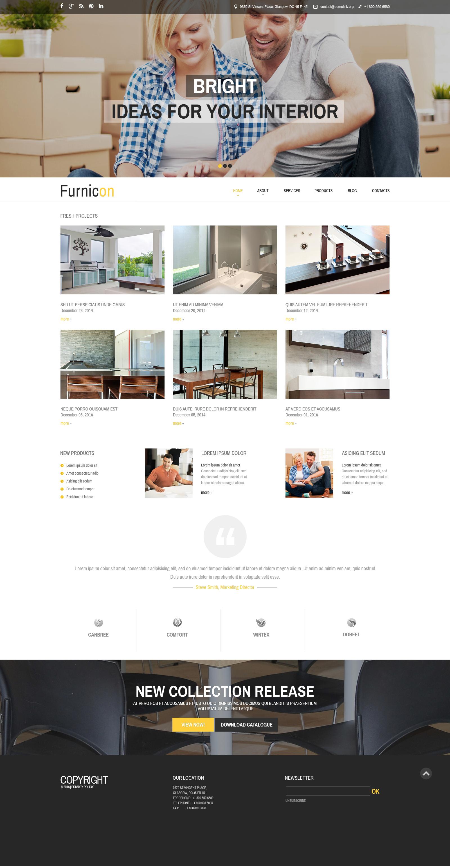 Адаптивный Drupal шаблон №51236 на тему дизайн интерьеров - скриншот