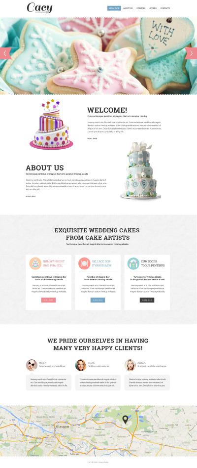 Адаптивный HTML шаблон №51267 на тему свадебные торты