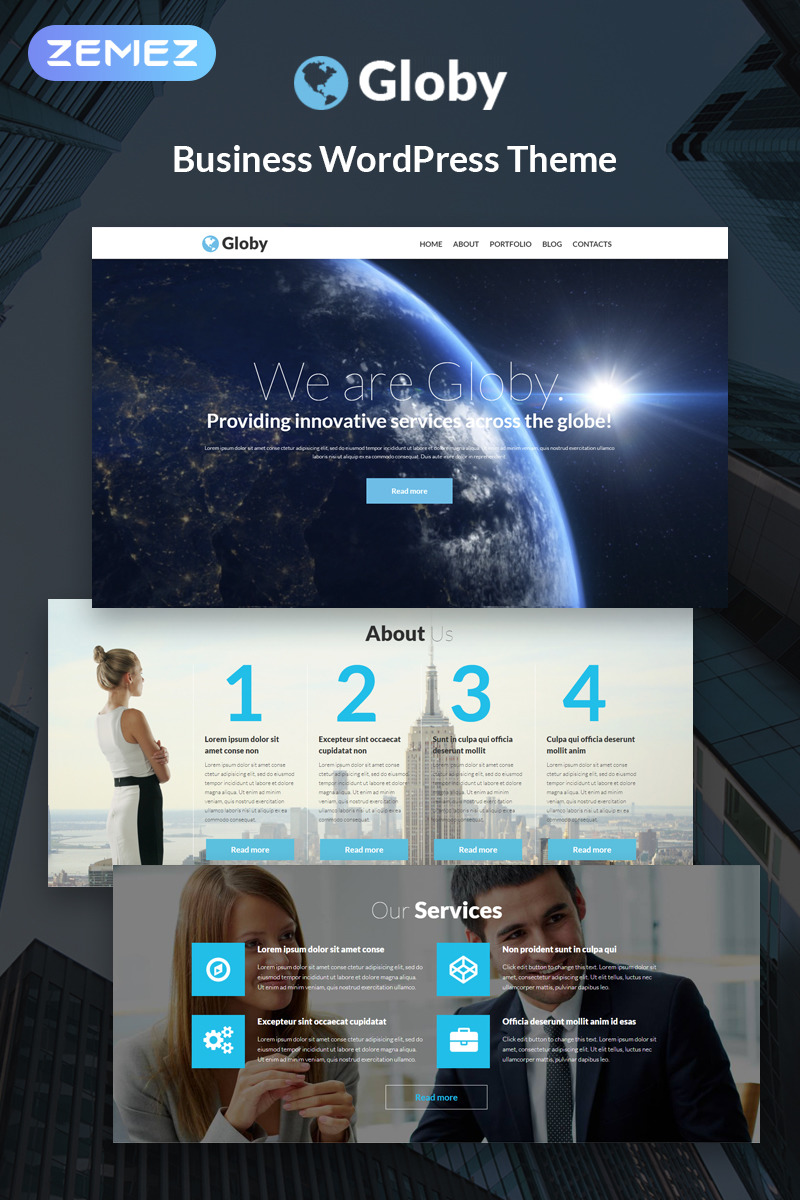 Адаптивный шаблон сайта на тему бизнес и услуги #51253