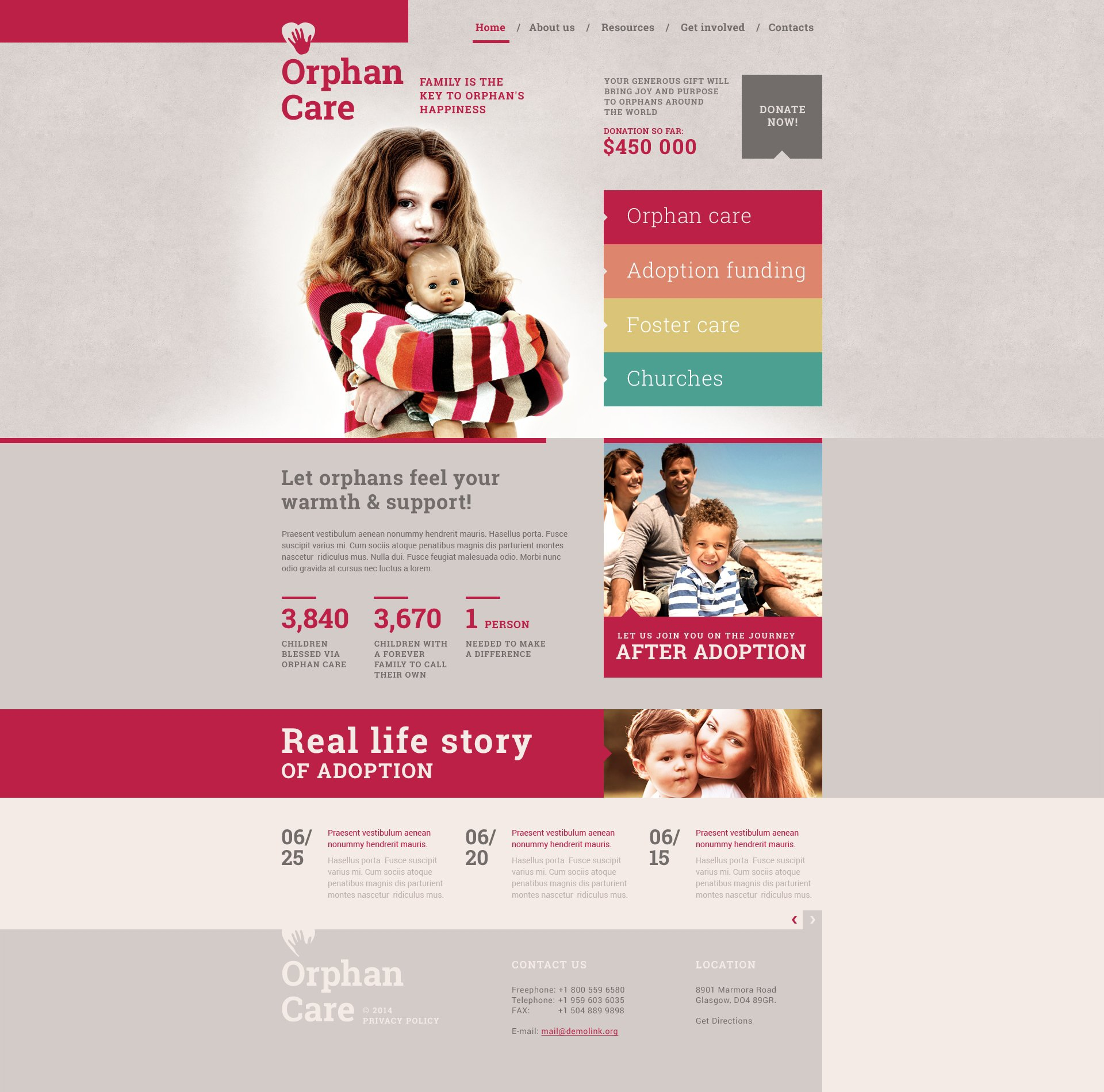 Adoption Agency Responsive Website Template