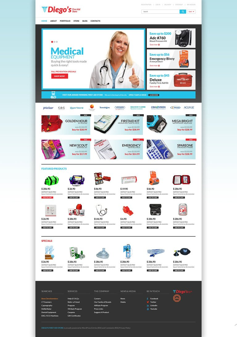 Ambulance Responsive WooCommerce Theme New Screenshots BIG