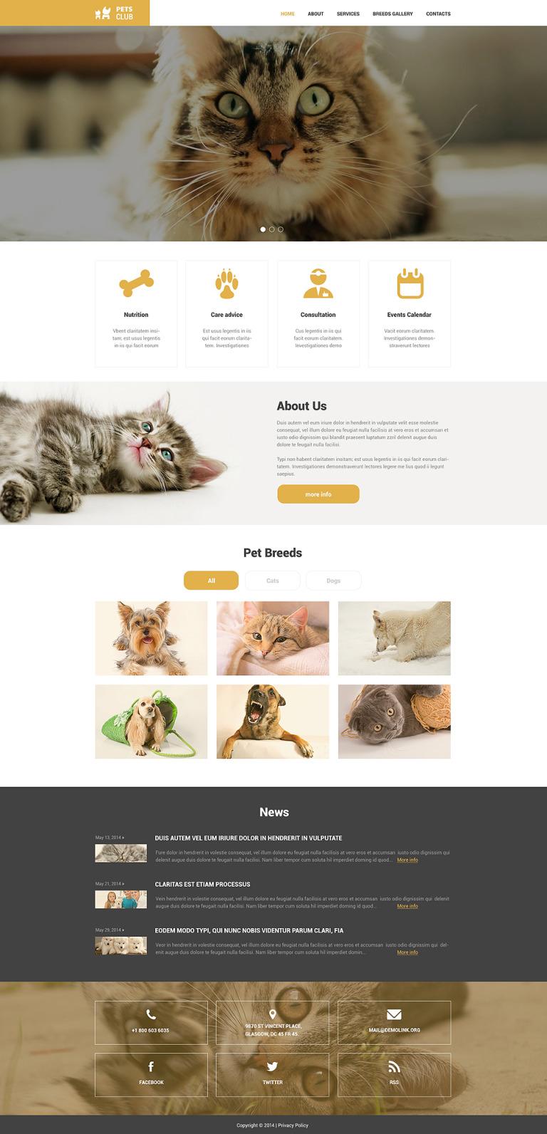 Animals & Pets Responsive Website Template New Screenshots BIG