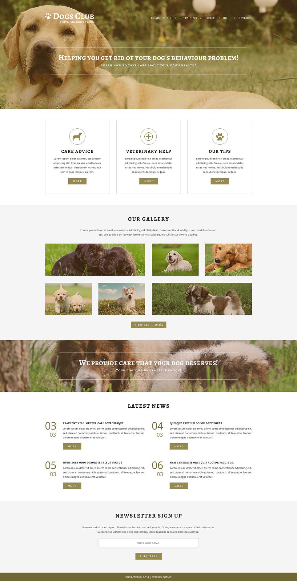 Animals Pets Joomla Template New Screenshots BIG