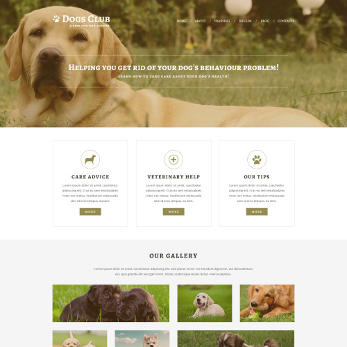 Dogs Club - Joomla! Template based on Bootstrap