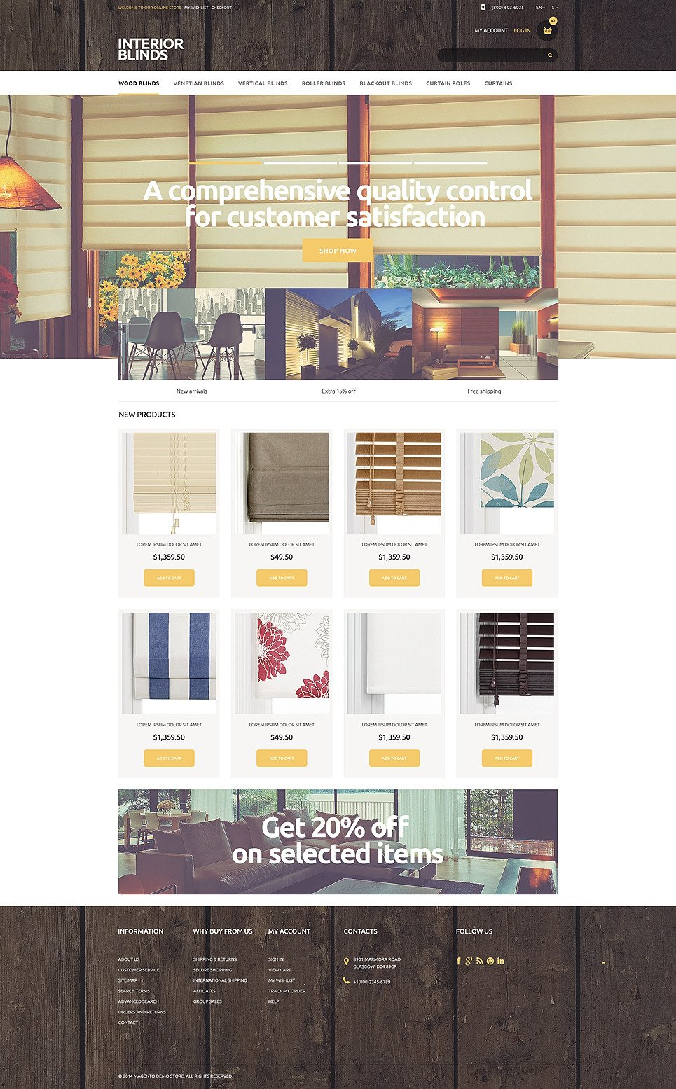 Beautiful Curtains Magento Theme New Screenshots BIG