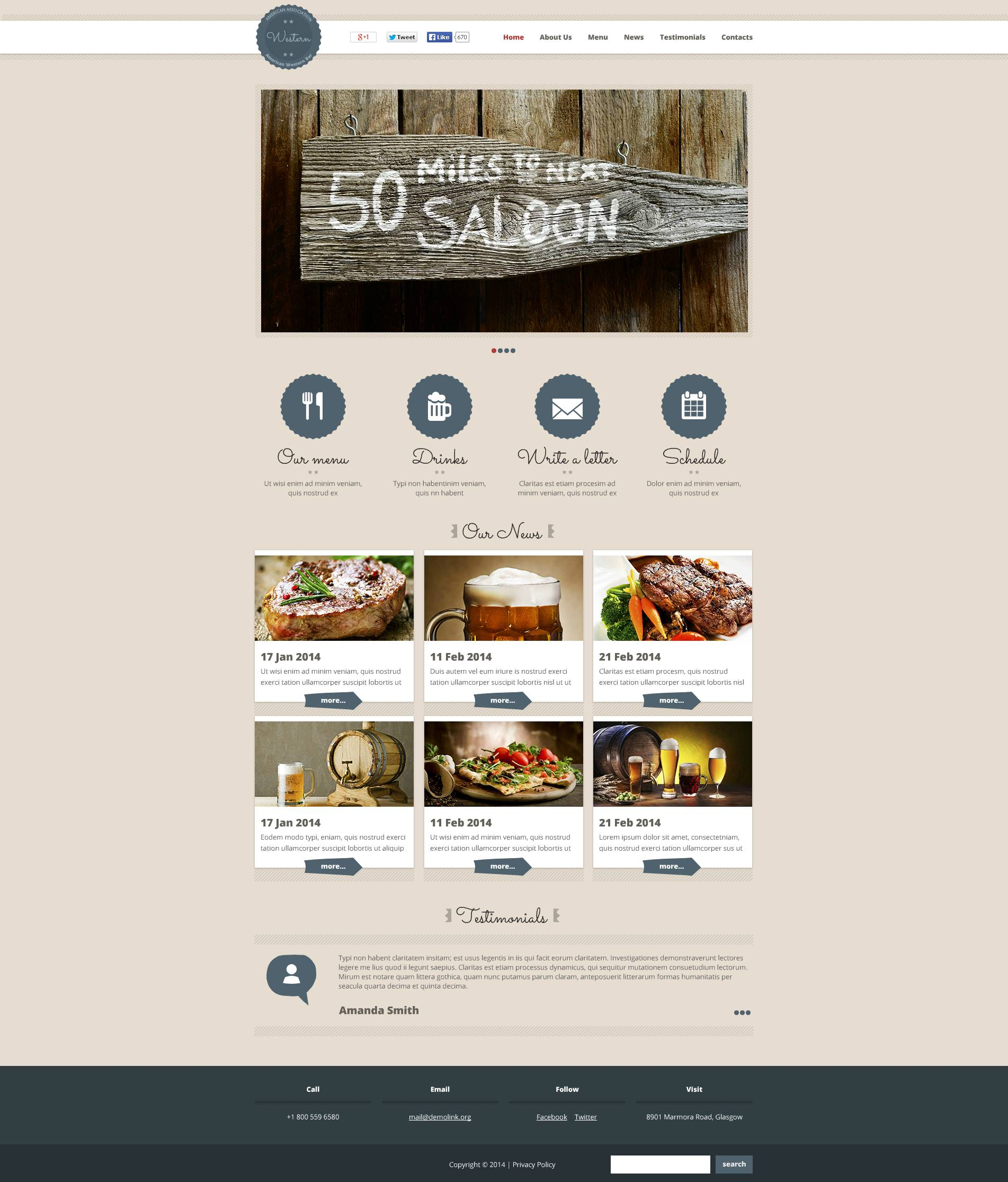 Cafe And Restaurant Flash Cms Template 51262