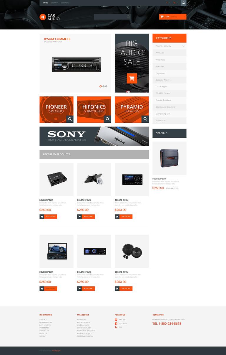 Car Audio Store PrestaShop Theme New Screenshots BIG