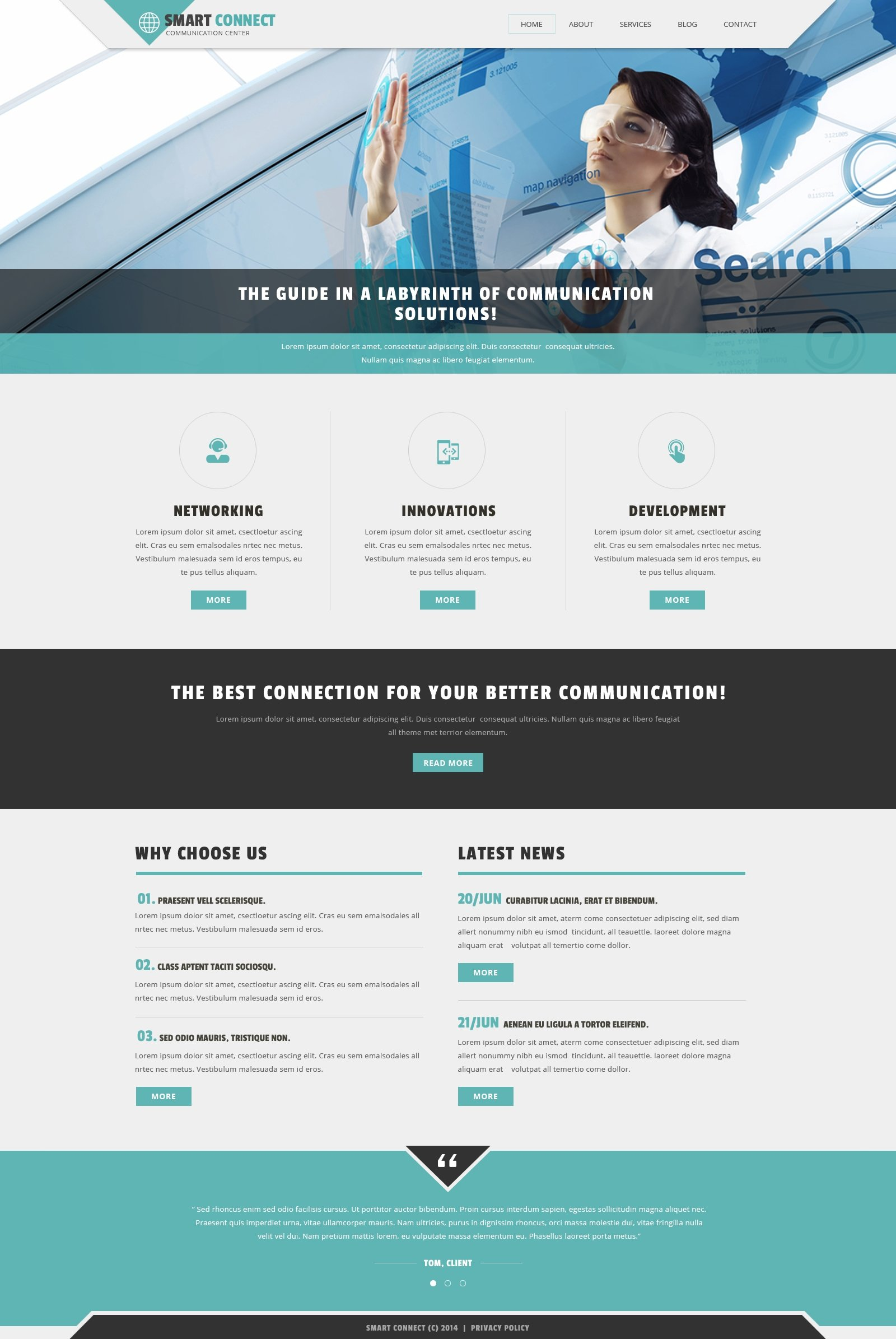 Communication Provider Joomla Template